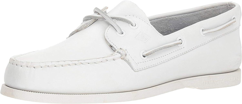 Sperry Mens A/O 2-Eye Boat Shoe, White