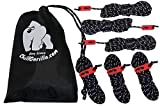 CHILL GORILLA 4mm 78′ REFLECTIVE TENT GUIDE ROPE GUY LINE CORD & Adjusters. Lightweight, Rain Tarps, Tents, Hiking, Backpacking. Essential Camping & Survival Gear. ENO Accessory
