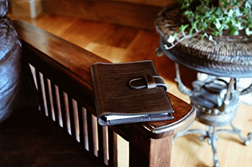 Medium Vachetta Strap Padfolio (Walnut) (Case Vachetta Leather)