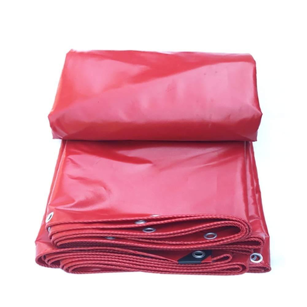 Tarpaulin Waterproof-for Outdoor, Camping, Boat, rosso Heavy Duty Tarp in PVC, Copertura per Tenda da Terra FENGMING (colore   Rosso, Dimensioni   3x4M)