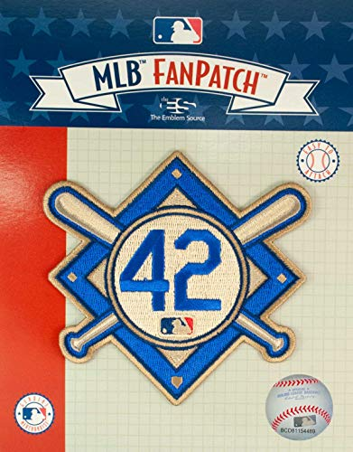 Emblem Source Jackie Robinson #42 MLB Licensed Primary Logo Sleeve Patch