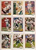 Miami Dolphins 1991 Upper Deck Football Master Team Set with High Numbers***Premier Issue******(3 Different Dan Marino Cards) (Mark Clayton) (Mark Duper) (Reggie Roby) and More