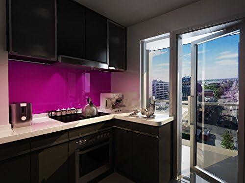 Kuchenruckwand Aus Glas Hochwertige Glasruckwand In 10 Farben Massgefertigt Amazon De Kuche Haushalt