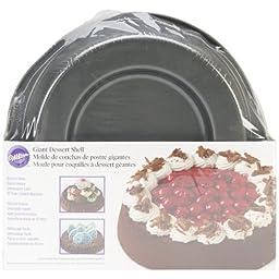 Wilton 2105-1438 Non-Stick Giant Dessert Shell Pan