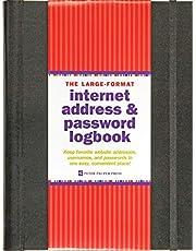 Large-Format Internet Address & Password Logbook