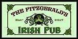 Personalized 'Irish Pub' Bar Mirror