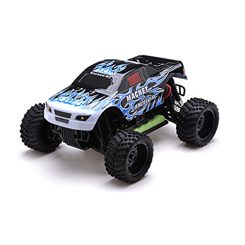 - 51vkspazcHL - 1/16 2.4Ghz Exceed RC Magnet EP Electric RTR Off Road Truck Fire Blue
