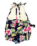 BINPAW Baby Girls Hawaiian Floral Print Lace Cut