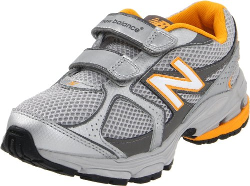 New Balance KG633 Running Shoe (Infant/Toddler/Little Kid),Silver/Yellow,10 W US Toddler