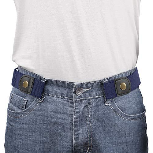 WERFORU No Buckle Elastic Belt for Men Stretch Buckle Free Belt for Jeans Pants 1.38