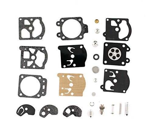 XtremeAmazing Carburetor Carb Repair Rebuild Kit Gasket Diaphragm For McCulloch MAC 284S 2816 2815 2325 2818 284S 2817 330 320 310 Walbro 95871-R1 WT434