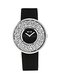 SO & CO New York Women's 5223.3 SoHO Quartz Black Wrist Watches