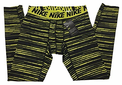 NIKE Men's Pro 3 Quarter Tights (Small, Electrolime/Black/Black)