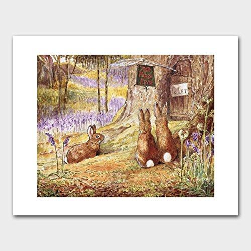 rabbit-print-woodland-wall-art-beatrix-potter-nursery-flopsy-mopsy-cottontail-unframed