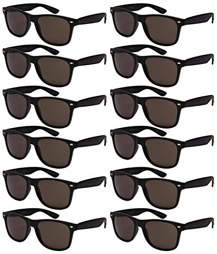 Edge I-Wear 12 Pack Sunglasses with UV 400 Lens and Spring Hinge 5401ASBLK-SD