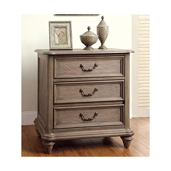 Furniture of America Minka IV Rustic Grey 4-Piece Bedroom Set King
