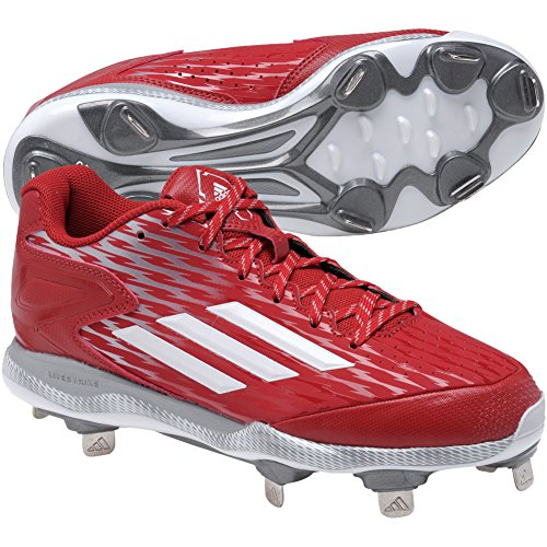 Adidas Performance Men's PowerAlley 3 Baseball Shoe Power Red-white-tech Grey collections g7KuXH