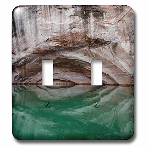 3dRose Danita Delimont - Patterns - Usa, Utah, Glen Canyon NRA. Arch in canyon wall reflect on Lake Powell - Light Switch Covers - double toggle switch (Utah Pattern)