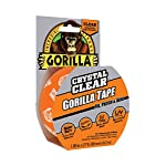 "Gorilla crystal clear duct tape, 1. 88"" x 9 yd, clear 23 crystal clear gorilla duct tape is a heavy-duty, all-purpose tape that is weatherproof, air tight, crystal clear, and can be torn by hand crystal clear gorilla duct tape is ideal for thousands of uses and sticks to almost everything—the uses are virtually endless it can be used for patching smooth surfaces, it sticks to rough & uneven surfaces and can even be used to seal and protect surfaces"