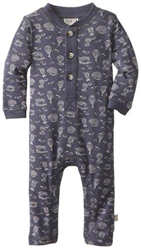 WHEAT Baby-Boys Newborn Jumpsuit Placket, Blue, 1 Month