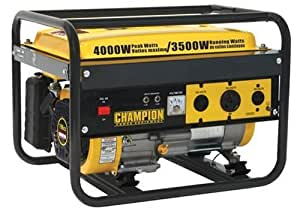 Champion Power Equipment 46515 4,000 Watt 196cc 4-Stroke Gas Powered Portable Generator