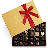 Godiva Chocolatier Assorted Chocolate Gold Gift Box, Valentine's Day Ribbon, 36 pc.