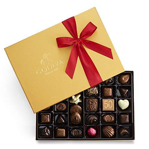 Godiva Chocolatier Assorted Chocolate Gold Gift Box, Valentine