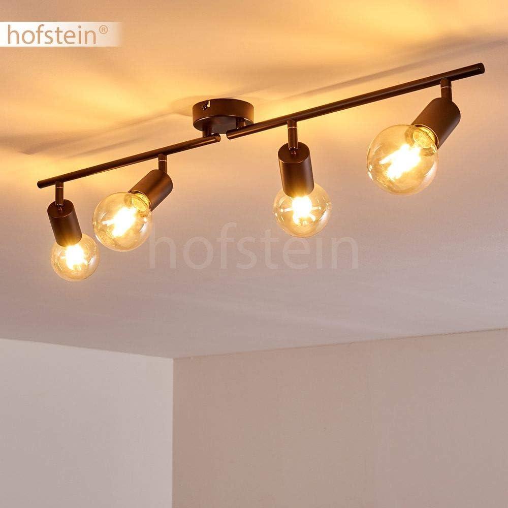 60 Watt attacco lampadine E27 a 4 luci max I faretti sono orientabili singolarmente Plafoniera Maidford,in metallo in nero adatta a lampadina a LED Stile retr/ó//vintage