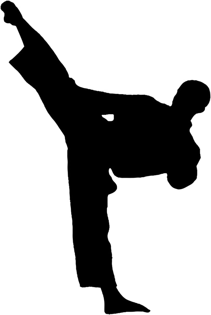 Male Karateka Silhouette - Wall Decor Art Print on a white background - 8x10 unframed karate-inspired print - great gift for for karate enthusiasts