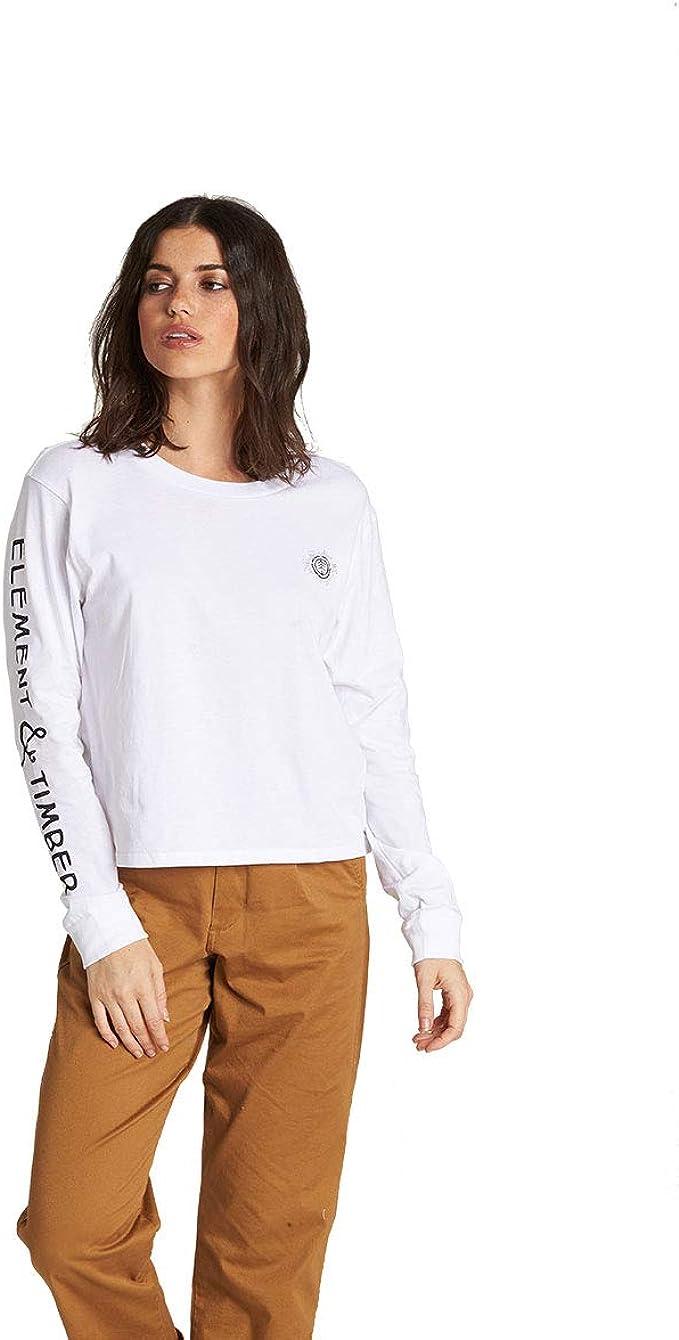 Element - Camisa para mujer - Blanco - Large: Amazon.es: Ropa y accesorios