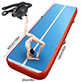 FBSPORT 10ft 13ft 16ft 20ft Inflatable Gymnastics Mat Airtrack Tumbling Mat Non-Slipping Floor Mattress with Air Pump for Gym/Home/Yoga/Training/Kids/Sport/Taekwondo/Game(Thickness 8in)