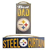 Pittsburgh Steelers Worlds best dad, Wall plaques, set of 2 for dad on Father's Day.