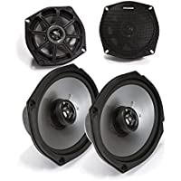 Kicker Motorcycle 5.25 inch and 6x9 Speaker package 4 ohm version.