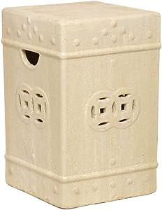 Emissary Ceramic Indoor/Outdoor Garden Stool -