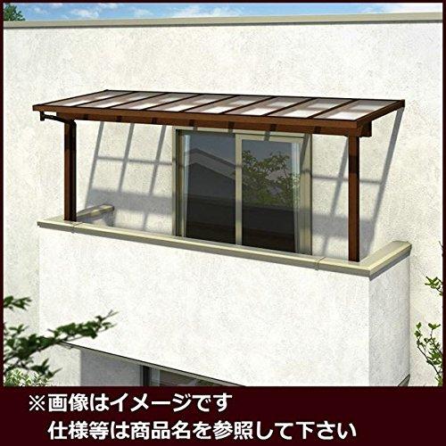 YKK ap サザンテラス フレームタイプ 2階用 関東間 1500N/m2 3.5間×5尺 (2連結) ポリカ屋根  ショコラウォールナット/スモークブラウン B01E40B9BU 本体カラー:ショコラウォールナット/スモークブラウン