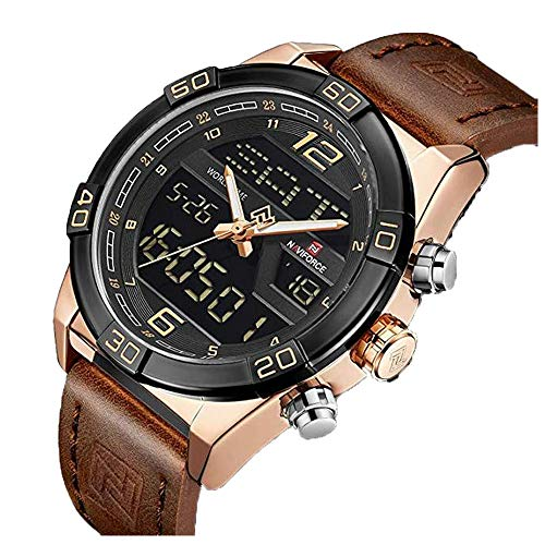 (Mens Waterproof Watch Military Analog Digital Watches Sport Dual Time Wristwatch)