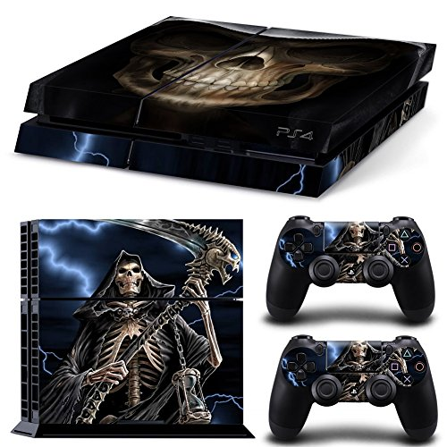 Price comparison product image Vinyl Decal Protective Skin Cover Sticker for Sony PS4 Console And 2 Dualshock Controllers 17