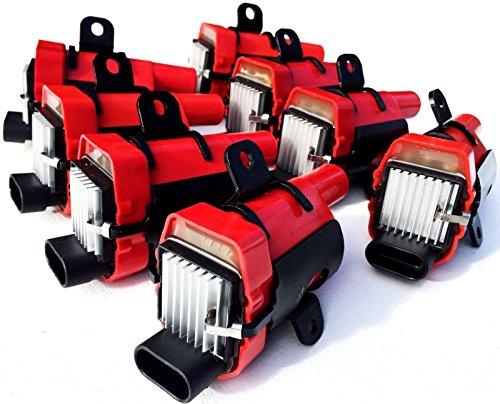 Ls1 Coil Packs (8 Hi Output Ignition coils GM Chevy Cadillac LS1 LS3 LQ LM 19005218 4.8 5.3 6.0)