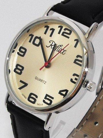Reflex 101221GT - Reloj de pulsera para hombre (esfera con números grandes, correa de 21 cm), color: Amazon.es: Relojes