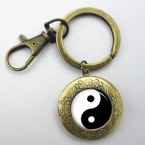 Amazon.com: Yin Yang Keychain Locket , Mimi Keychain, Key ...