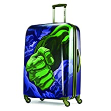 American Tourister Disney Marvel All Ages Spinner, The Hulk, Checked – Large