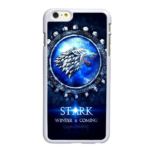 UP44 Game of Thrones Logo N0P1QI iPhone 6 Plus 5,5 Zoll-Handy-Fall Hülle weißen DK4ROI3NI decken
