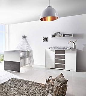 Babyzimmer komplett set  Babyzimmer Komplettset Kinderzimmer HOLLY in Weiß 4-teiliges ...