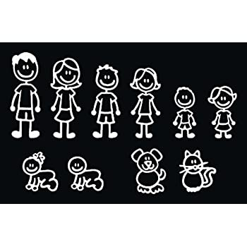 adcd8ba36 10 STICK FIGURE FAMILY your stick figure family can be applied to any clean  dry surface your Funny Vinyl Decal Sticker comes In White No Inks 100% Viny  ...