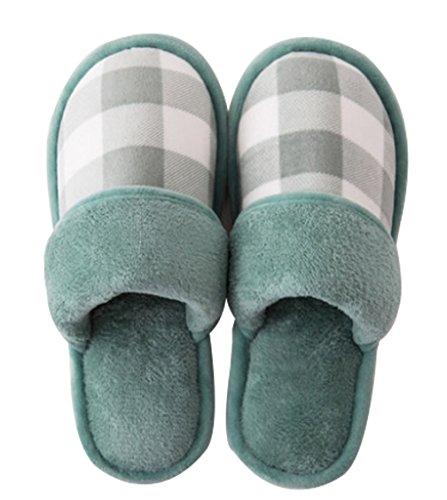 Cattior Mujeres Fur Lined Warm Slip En Zapatillas Slippers En Verde