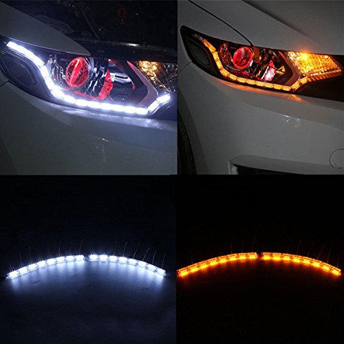 Switchback Headlamp LED Daytime Running Light Strips with Waterfall Turnsignalers (Waterfall Switchback)