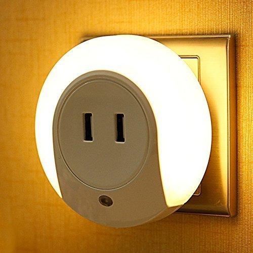 Gosear 2 in 1 Casa Camera da Letto LED Sensore Luce di Notte + 5V 2A Fast Charge Caricabatteria USB da Parete per iPad iPhone 5 6 Plus Samsung Fotocamera MP3 EU Plug