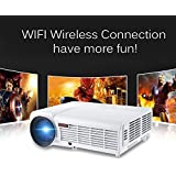 3000Lumens Home Projector Support 1080Pixels Video TV Android WIFI Projector