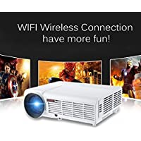 3000Lumens 3D Home Projector Support 19201080Pixels Video TV Android WIFI Projector With Free 3D Glasses