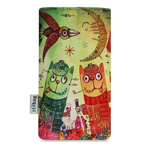 Stilbag Etui 'MIKA' pour Apple iPhone SE - Dessin: Tipsy Cats